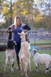 Ashley and Goats 2