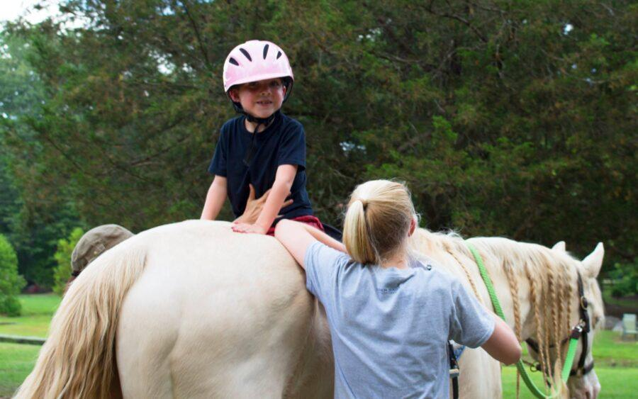 Gabriel riding