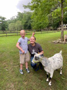Speech with goat
